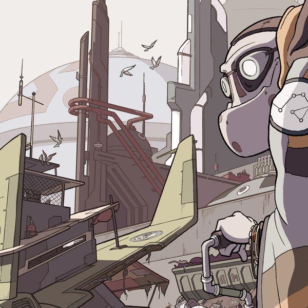 The Star City Series #4 - Junkyard Hermit by Ian Bradley, via Behance
