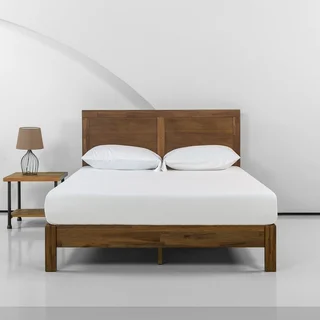 Priage By Zinus 12 Inch Acacia Wood Platform Bed With