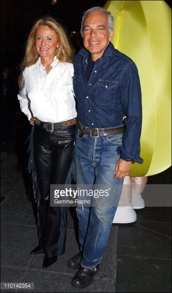 American Fashion Designer Ralph Lauren And His Wife Therapist Ricky Designer Ralph Lauren American Fashion Designers Polo Ralph Lauren Women