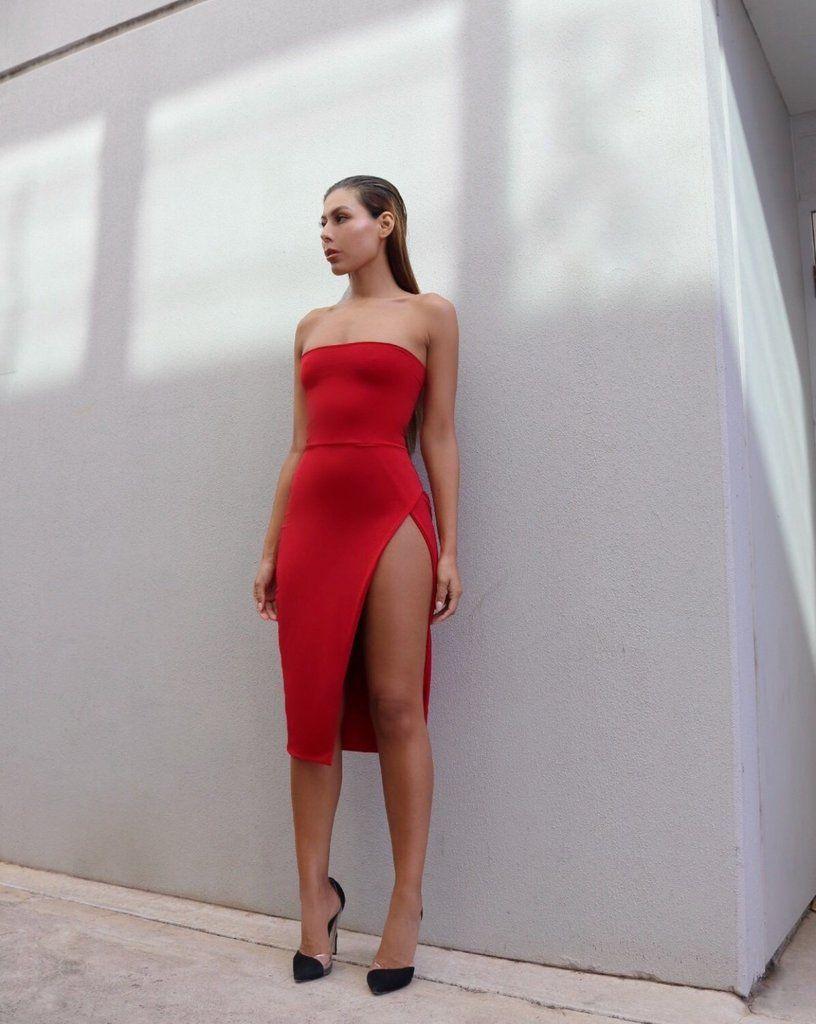 Lexi midi dress-red -   13 dress Red chic ideas