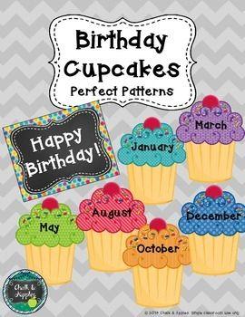 Birthday Cupcakes Easy Bulletin Board Classroom Ideas