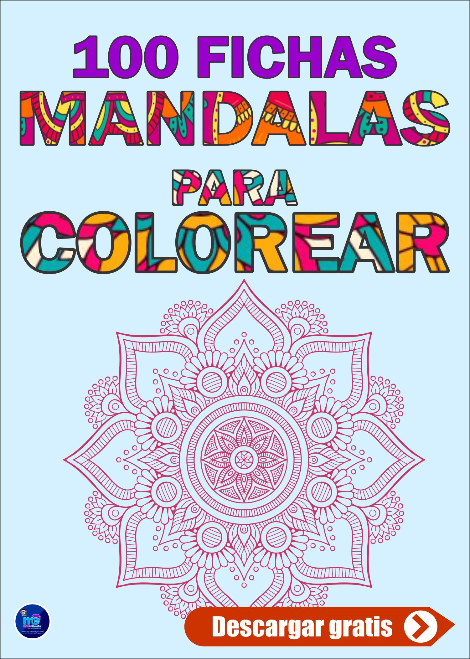 100 Mandalas Para Colorear Mandalas Para Colorear Mandala Para Imprimir Libros De Mandalas