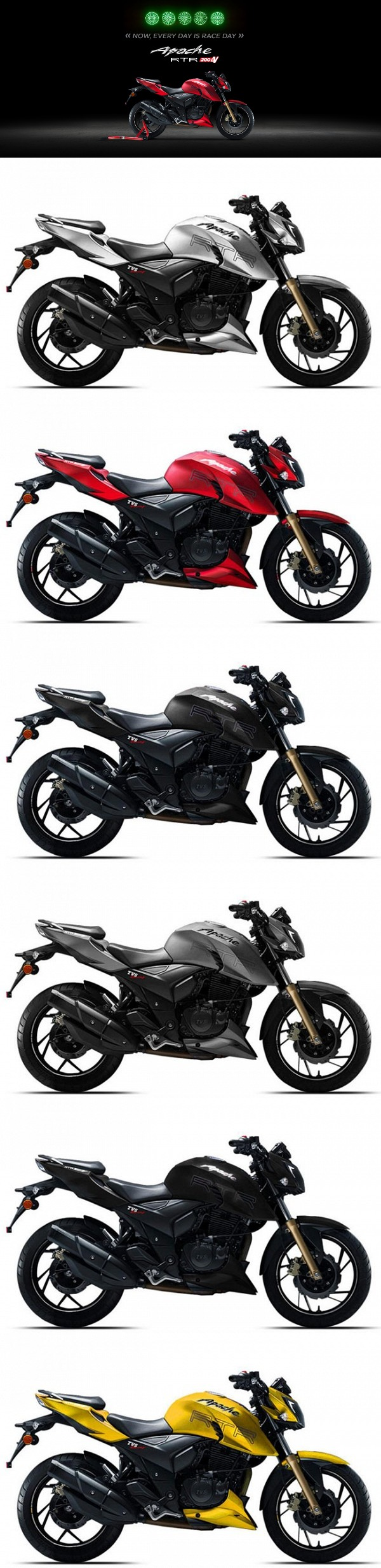 Now Every Day Is Race Day Tvs Apache Rtr200 Is