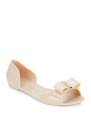 Saks Fifth Avenue Peep Toe Jelly Sandals