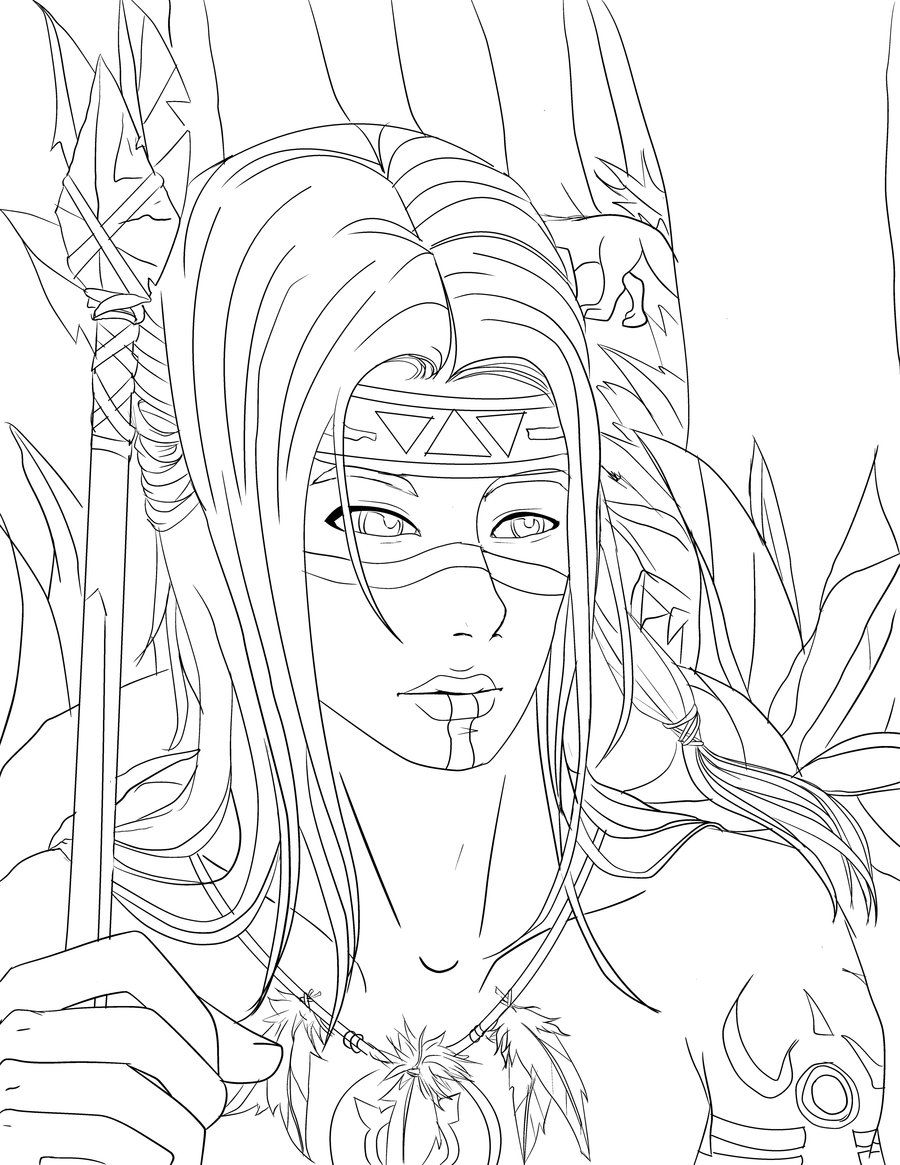 Native American Girl Drawing at GetDrawings.com Free for personal