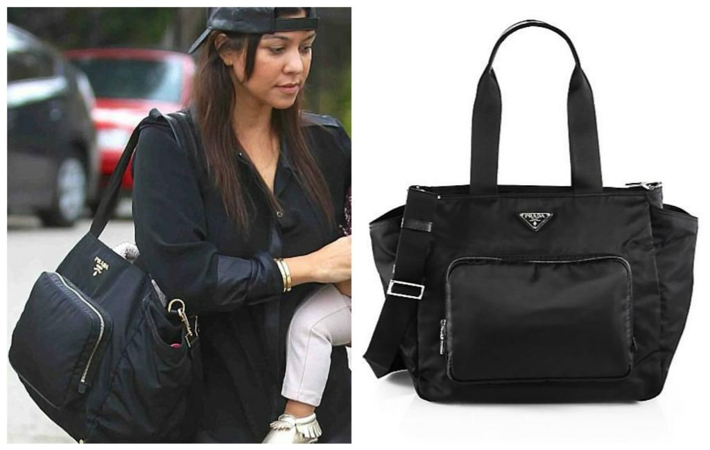 Celebrity diaper bags  Kourtney Kardashian Prada diaper bag  ca3ac12641afa