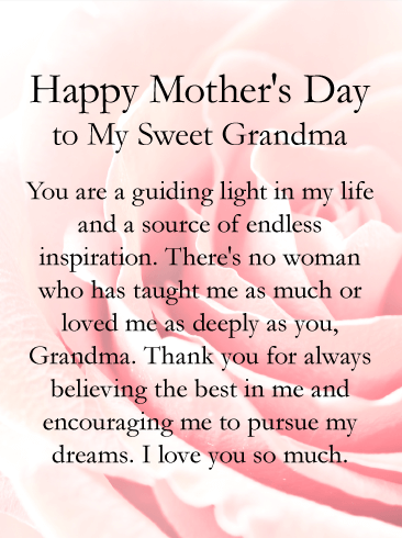 Mothers Day Message For Grandma Happy Mothers Day Mother Day Message Happy Mother S Day Card Mother Day Wishes