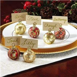 ornament place card holders this would be super easy to make