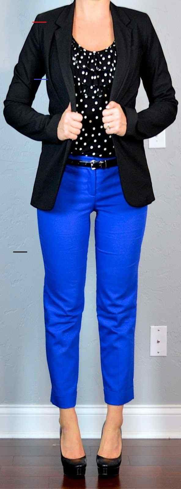 polka-dot top, black jacket, blue cropped pants polka-dot top, black jacket, blue cropped pants Outfit Posts: outfit post: polka-dot top, black jacket, blue cropped pants...  #Black #Blue #cropped<br>