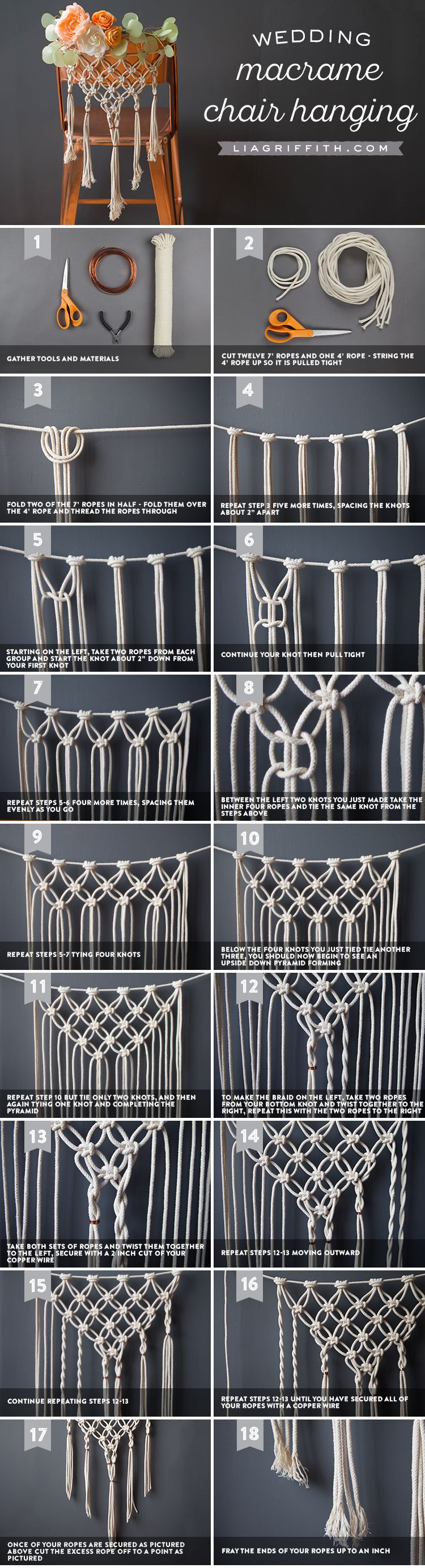 Macrame Chair Decor Tutorial