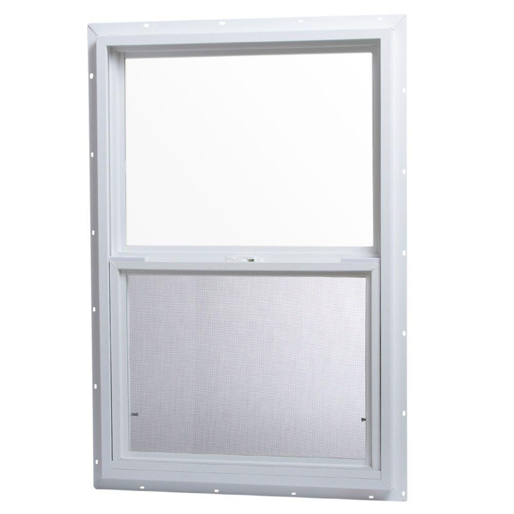 Tafco Windows 24 In X 36 In Single Hung Vinyl Window White Vsh2436op The Home Depot In 2020 Window Vinyl Single Hung Vinyl Windows Vinyl Replacement Windows