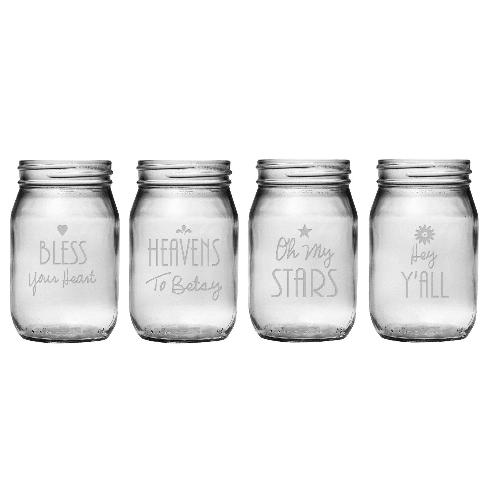 Southern Sayings Mason Jars Glass Mason Jars Drinking Jars Mason Jar Glasses