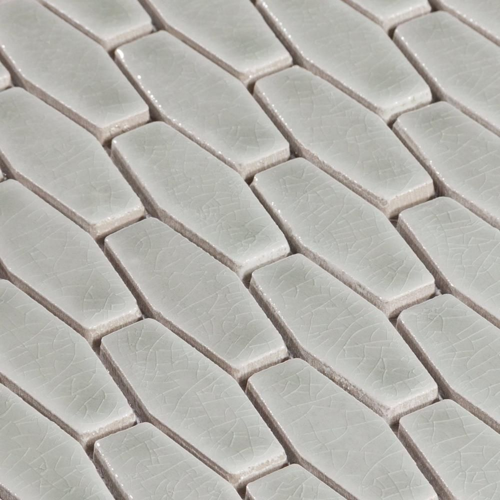 Villa Heirloom Willow Elongated Hexagon Porcelain Mosaic