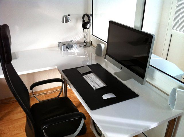 Like The Desk And Simplicity Office Pinterest