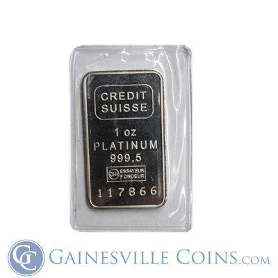 1 Oz Platinum Bar Argor Heraeus 999 Fine In Assay Platinum Gold Coins Rare Stamps