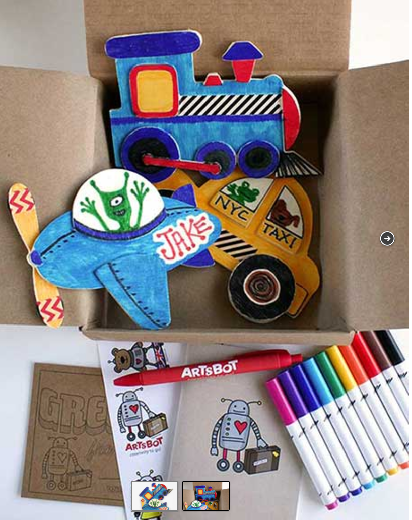 Kids wood craft kits - Color Wood Magnets Make Your Own Car Train And Plane To Stick Your Other Craft Kits For Kidskids