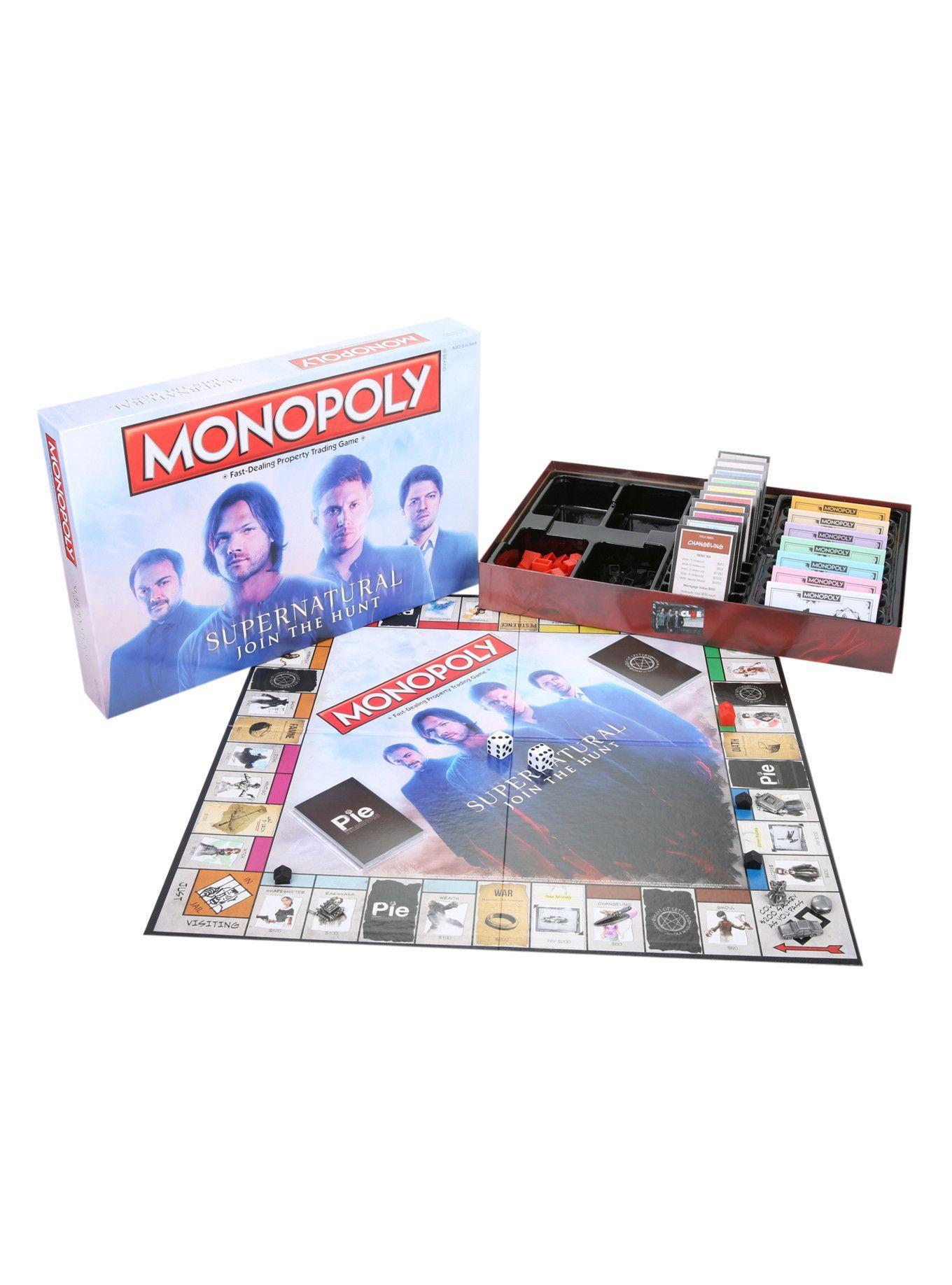 Monopoly supernatural board game