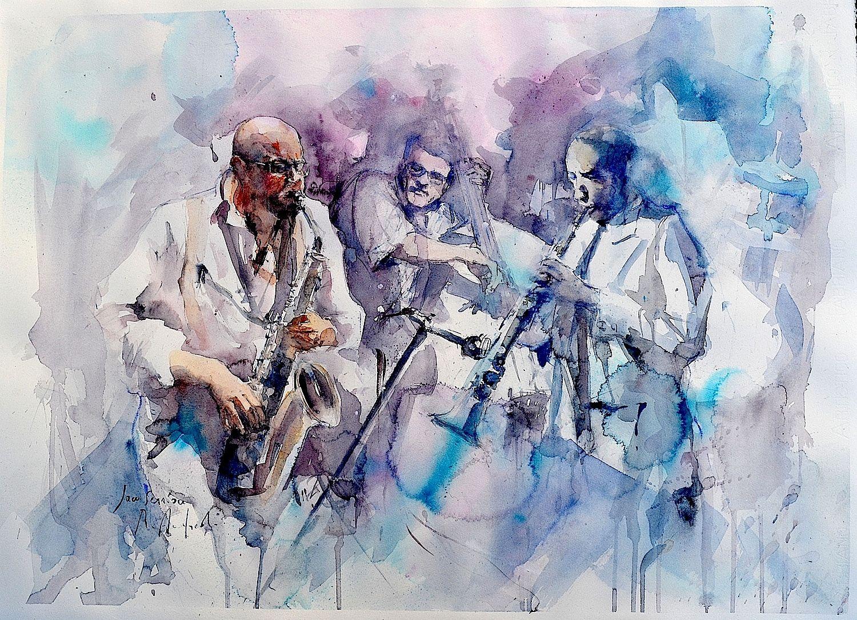 Roberto Andreoli JAM SESSION - Acquerello cm. 76x56
