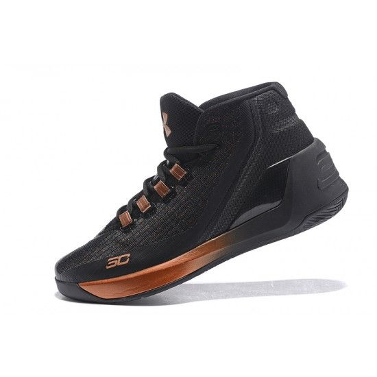 Sale Under Armour Curry 3 Mens Basketball Shoes Black Gold