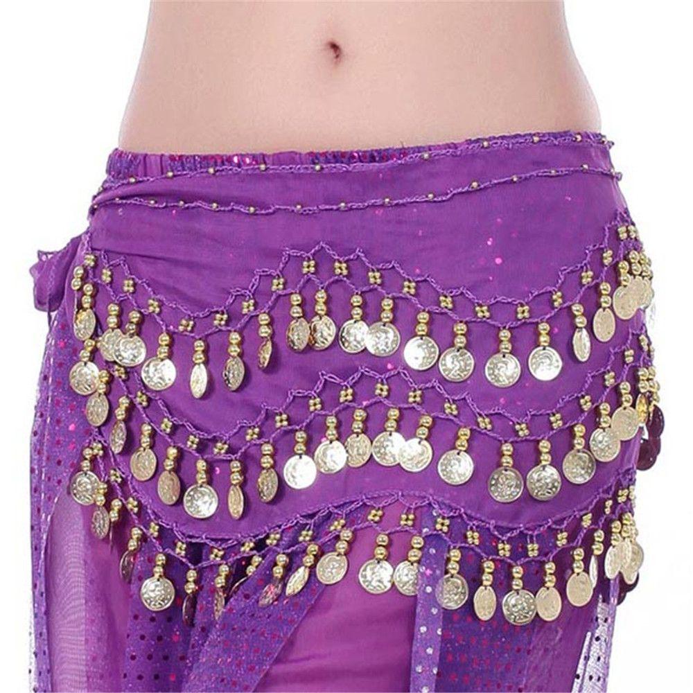 Tribal Belly Dance Hip Skirt Sliver Waist Chain Waistband Belts for Party