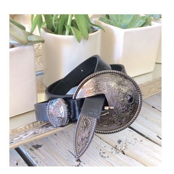 "Gun Metal Belt in Black New! Approx 38"" long without buckle. Buckle is a gun metal shade. Accessories Belts"