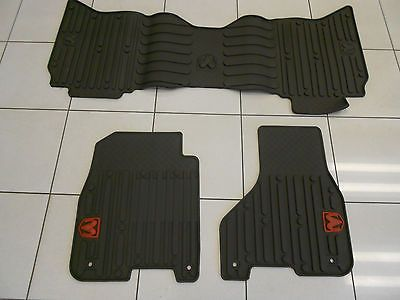 Factory Oem Genuine Mopar Front Rear Rubber Floor Mats With Red Ram Logo New Rubber Floor Mats Mopar Rubber Flooring