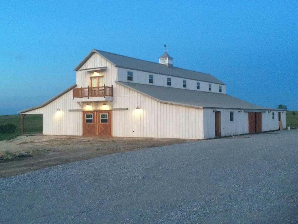 The Big White Barn In Decatur White Barn Barn Garage Doors