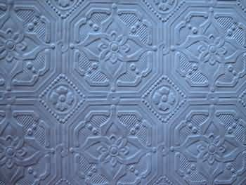 textured wallpaper you can paint any color - use to cover ceiling