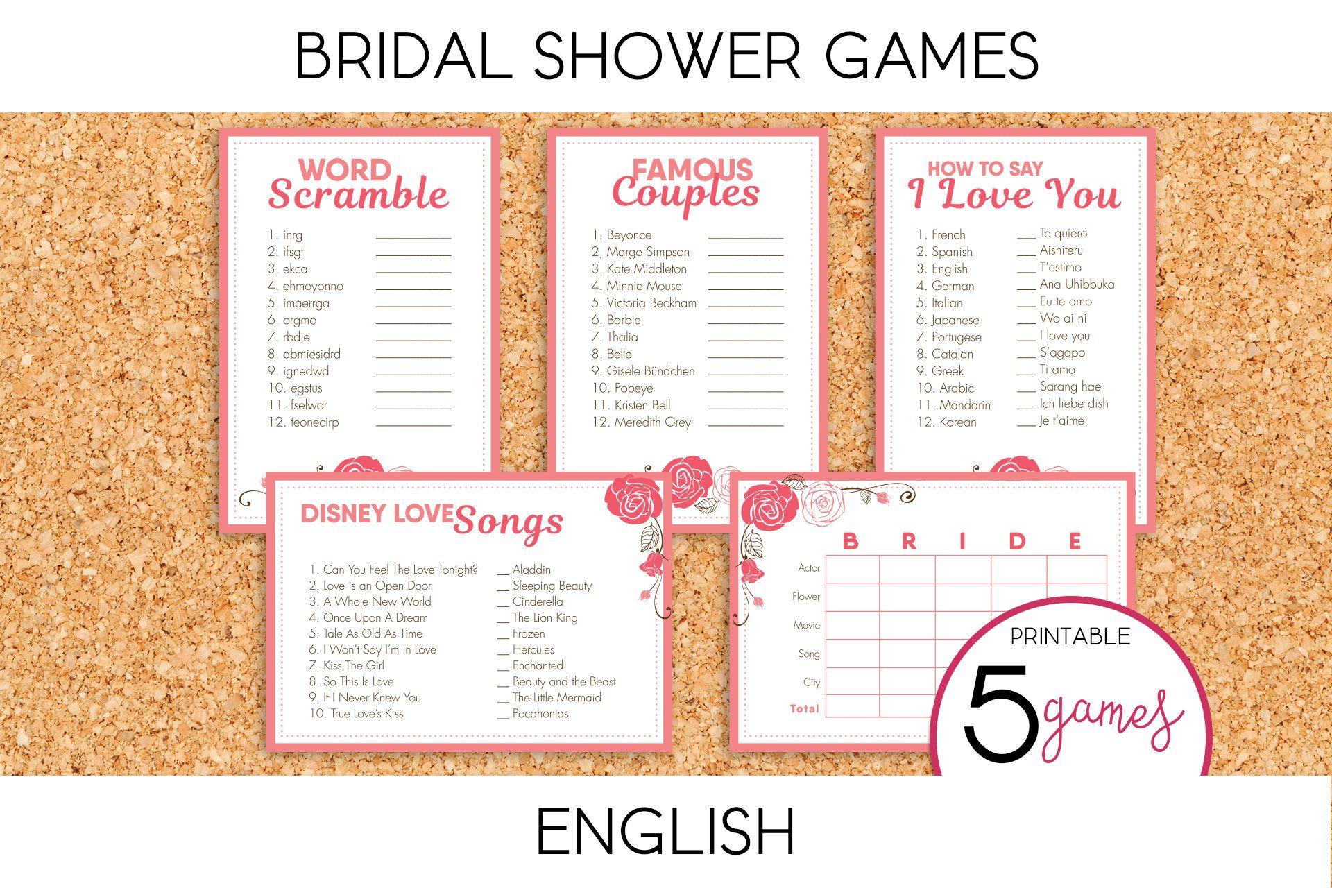 Bridal Shower Bachelorette Games