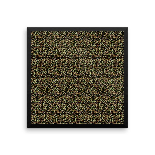 German WWII Polyspot Spring Camo Framed photo paper poster