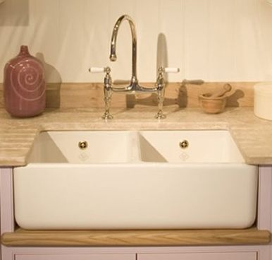 Shaws Classic Butler Double Bowl Ceramic Sink | Parisian Home ...
