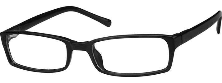 Black Class Black Rectangular Eyeglasses #228721 | Zenni Optical ...