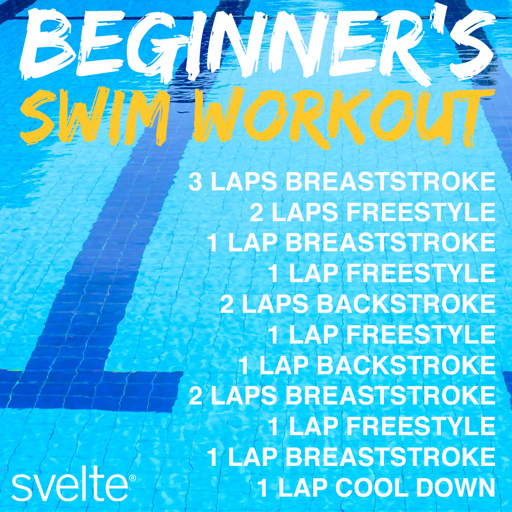 Hot Summer Days Are Perfect For Swimming New To The Pool Try This Beginner Workout Workout