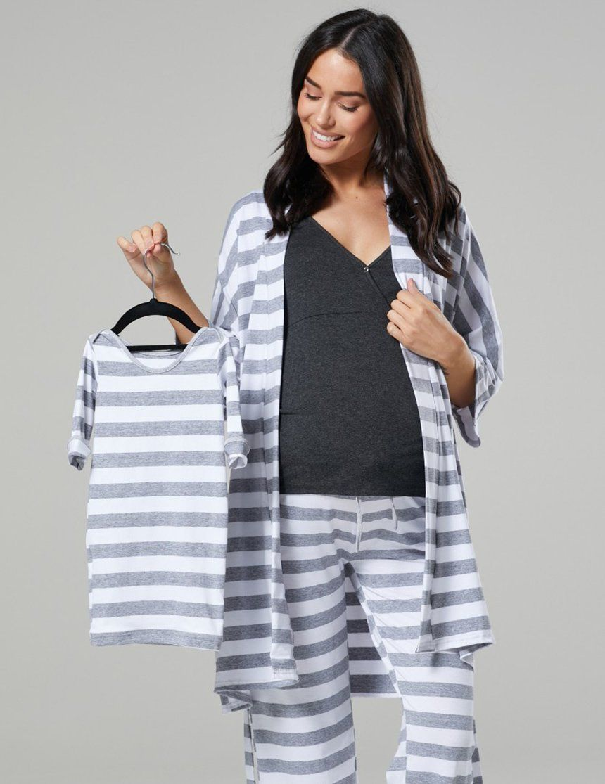 752e782328299 Maternity nursing sleepwear- 4pcs pajama set• Designed to fit before,  during and