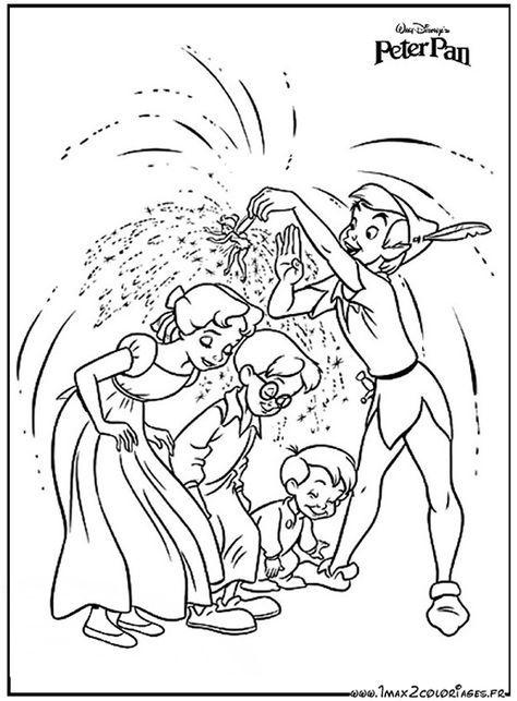 Coloriage peter pan colorier dessin imprimer - Peter pan dessin anime gratuit ...