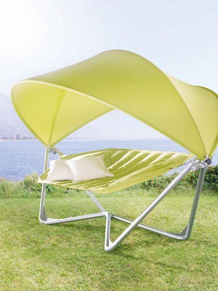 h ngematte gestell gr n sonnendach bei m max online g nstig bestellen ab in den garten. Black Bedroom Furniture Sets. Home Design Ideas