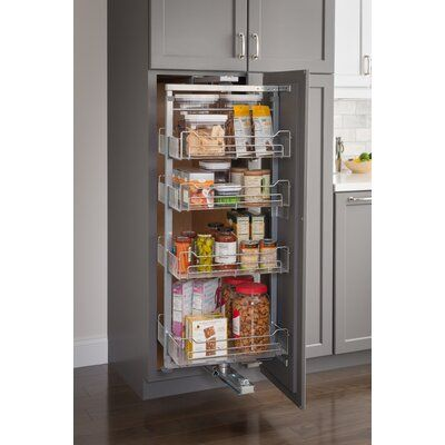 Hardware Resources Wire Pull Out Pantry | Wayfair #cabinetorganizers