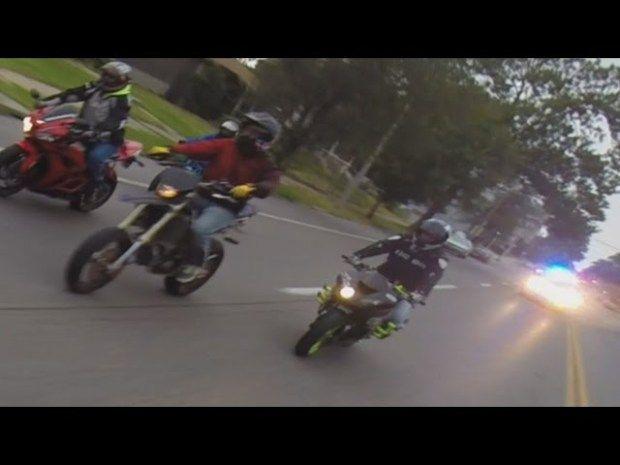Dirt Bike Crash Hit Invisible Thing Aftermarth Motorcycles Vs