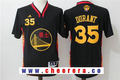0eed33658 Men s Golden State Warriors  35 Kevin Durant Black Adidas 2017 The NBA  Finals Patch 2015 Chinese Fashion Stitched NBA Jersey