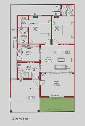 marla house plan sq yds architecture design estate plans home map also rh pinterest