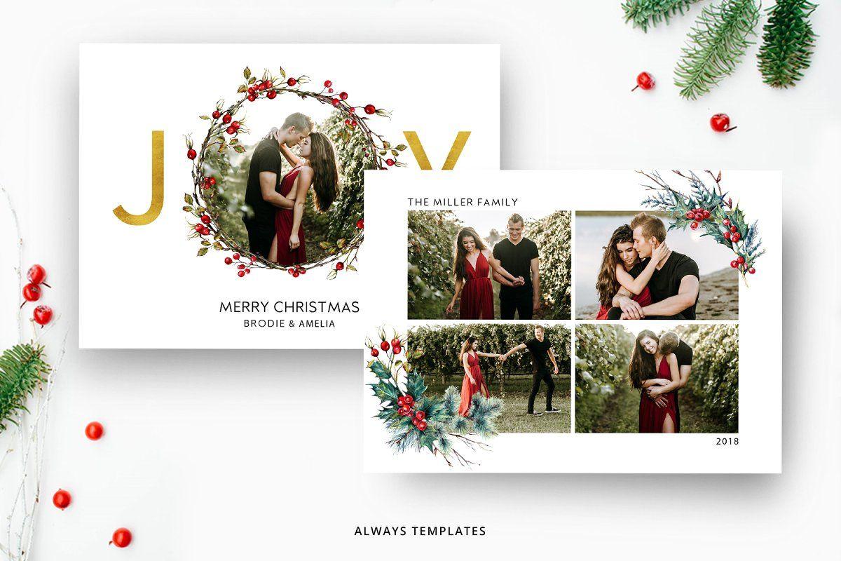 Christmas Card Template Cc019 Christmas Card Template Christmas Card Photoshop Christmas Photo Card Template