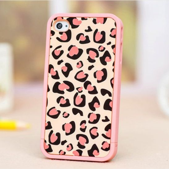 iPhone 5 Case, Pink Leopard Print