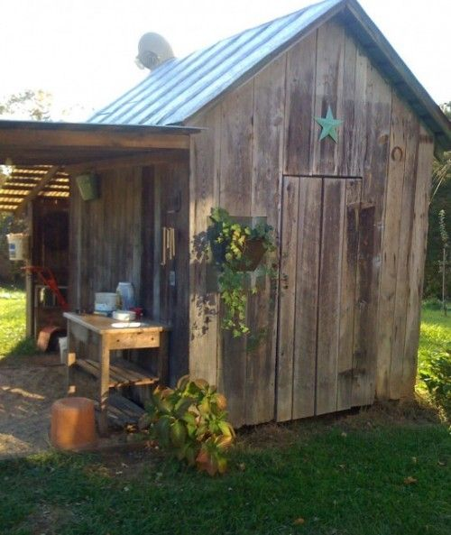 Too small and rustic butnice leanto and the pavers are a nice