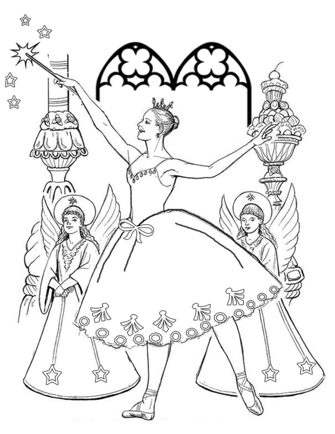 Sugar plum fairy nutcracker coloring page