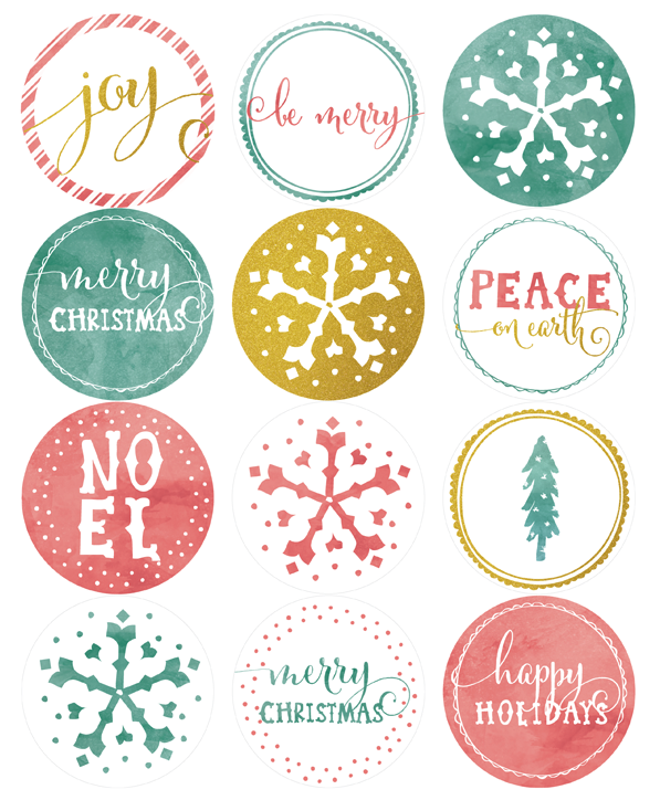 Free printable round holiday label template part of a collection by falala designs by ana for Free christmas labels