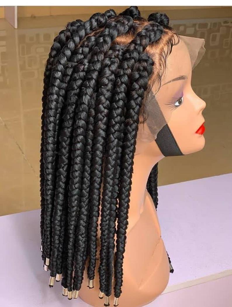 Ready to shipShort Box Braided wig Frontal box Braided   Etsy
