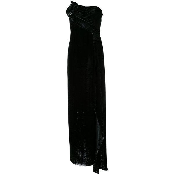 Rubin Singer bustier maxi dress ($11,378) ❤ liked on Polyvore featuring dresses, black, rubin singer dresses, maxi dresses, bustier dress, rubin singer and bustier maxi dress