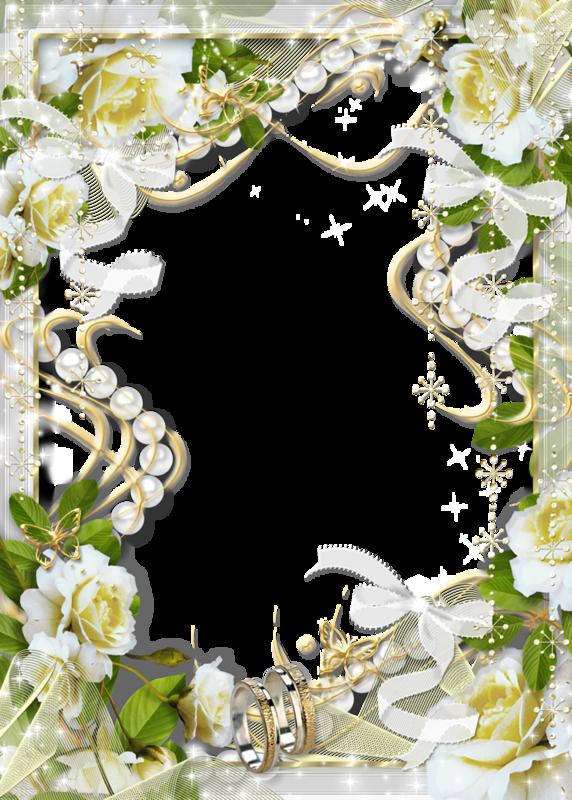 Beautiful Transparent Soft White Wedding Photo Frame with White ...