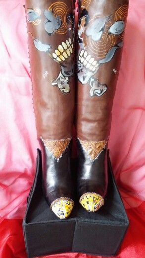"Strut your stuff in these genuine leather boots. Too see more please visit ""VisionistaV"" on Etsy."
