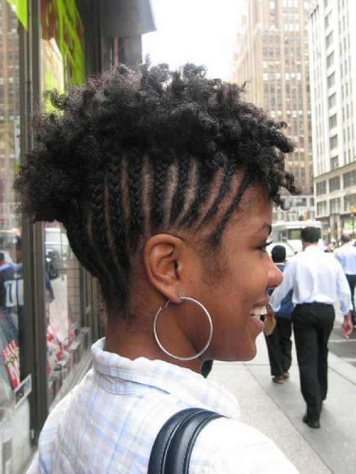 Cornrows With Natural Hair Mohawk In 2020 Braided